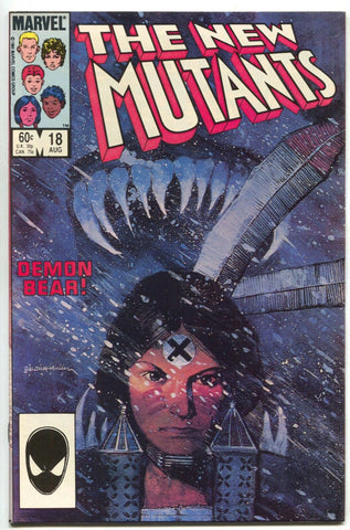 New Mutants 18 Marvel 1984 NM 1st Warlock Magus Demon Bear Bill Sienkiewicz