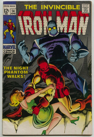 Invincible Iron Man 14 Marvel 1969 VG FN Archie Goodwin