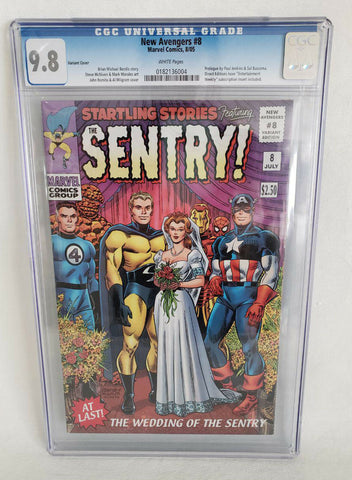 New Avengers 8 Marvel 2005 CGC 9.8 John Romita Variant Wedding Sentry