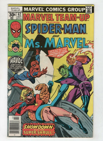 Marvel Team-Up 62 1977 FN VF Spider-Man Ms. Marvel Super Skrull Gil Kane