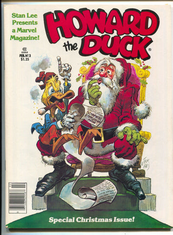 Howard The Duck Magazine 3 Marvel 1980 VF NM Bill Mantlo Christmas Santa Claus