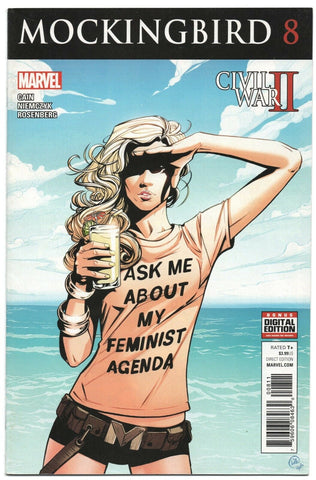 Mockingbird 8 A Marvel 2016 NM- Civil War II Ask Me About My Feminist Agenda