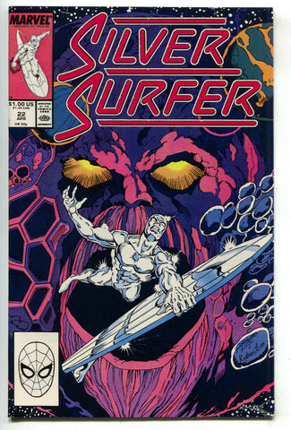 Silver Surfer 22 2nd Series Marvel 1989 NM- Ego Living Planet Ron Lim