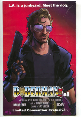 Doberman 1 B IDW 2014 NM Tony Fleecs Convention Exclusive Movie Poster Variant
