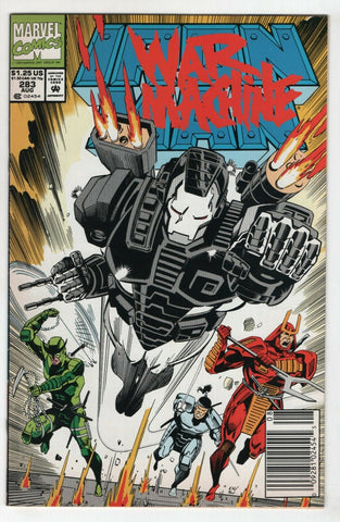 Iron Man 283 Marvel 1992 VF 2nd War Machine James Rhodey Newsstand