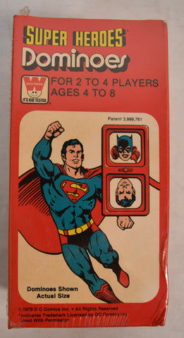 Super Heroes Dominoes Whitman 1979 MIB New Sealed Superman Batman Game