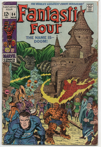 Fantastic Four 84 Marvel 1969 VG Dr Doom Nick Fury Jack Kirby Stan Lee