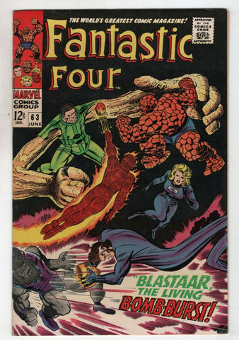 Fantastic Four 63 Marvel 1967 FN VF Blastaar Sandman Inhumans Stan Lee