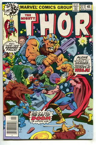 Mighty Thor 277 Marvel 1978 VF NM Loki Ragnarok Roy Thomas John Buscema
