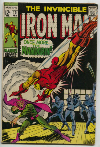 Invincible Iron Man 10 Marvel 1969 VG FN George Tuska Nick Fury