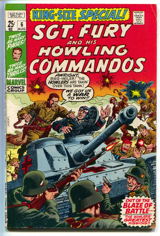 Sgt Fury And His Howling Commandos Annual 6 Marvel 1970 FN VF King Size Special