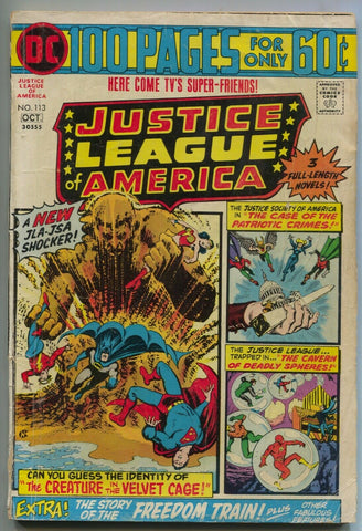 Justice League Of America 113 DC 1974 GD VG Nick Cardy Flash Batman Superman