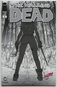 Walking Dead 1 Image 2014 NM Reno Comic Con Signed Jonboy Meyers BW Variant
