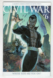 Civil War 6 B Marvel 2006 NM- 1:16 Michael Turner Namor Variant Mark Millar