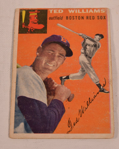 Ted Williams Topps 1954 Baseball Card 1 Boston Red Socks HOF