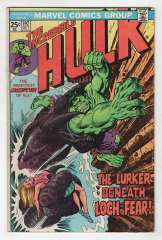 Incredible Hulk 192 Marvel 1975 VG Herb Trimpe Len Wein