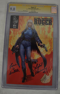 Ruger 1 Scare Tactix Graphix 2015 NM/MT CGC SS 9.8 Signed Sybil Danning