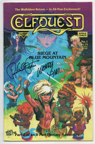 Elfquest Siege At Blue Mountain 1 Warp 1987 VF Signed Wendy Richard Peni