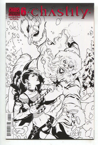 Chastity 6 D Dynamite 2014 NM 1:10 Emanuela Lupacchino Sketch Variant Bad Girl