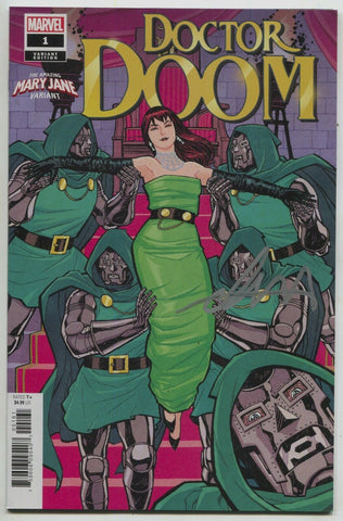 Doctor Doom 1 B Marvel 2019 NM Mary Jane Variant Signed Christopher Cantwell