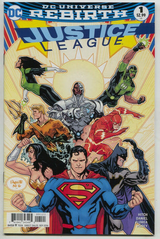 Justice League 1 B DC 2016 NM Rebirth Yanick Paquette Variant Superman Batman