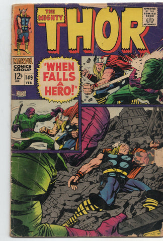 Mighty Thor 149 Marvel 1967 GD Jack Kirby Stan Lee Wrecker Inhumans Black Bolt