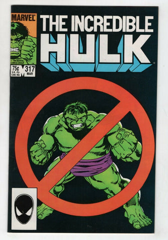 Incredible Hulk 317 Marvel 1986 NM- Doc Samson John Byrne
