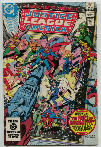 Justice League Of America 218 DC 1983 VF Flash Batman Superman Green Arrow