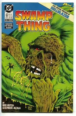 Swamp Thing 67 DC 1987 NM Rick Veitch John Constantine Hellblazer 1 Preview