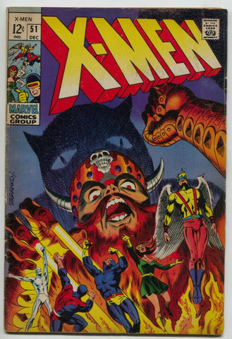 Uncanny X-Men 51 1st Series Marvel 1968 FN 1st Erik The Red Jim Steranko