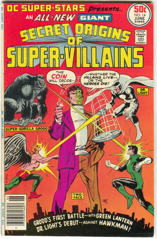 DC Super Stars 14 1977 FN Two-Face Secret Origins Super Villains Green Lantern