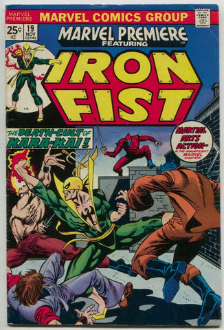 Marvel Premiere 19 1974 FN Iron Fist 1st Colleen Wing Jim Starlin