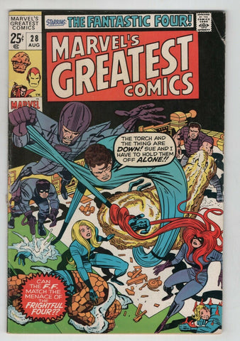 Marvels Greatest Comics 28 1970 VG Fantastic Four 36 Tales Of Suspense 70 76