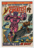 Marvels Greatest Comics 36 1972 FN Fantastic Four 49 Galactus Silver Surfer