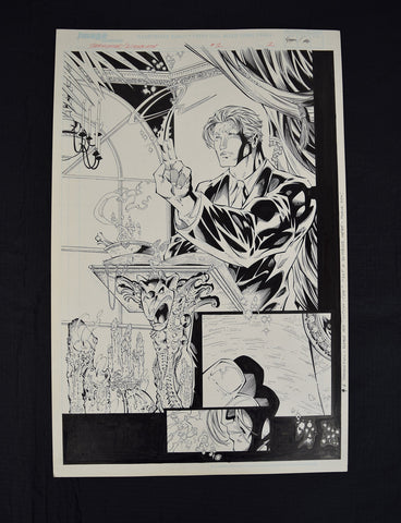 Witchblade Darkchylde 1 Image Randy Queen Splash Page Original Art Sketch