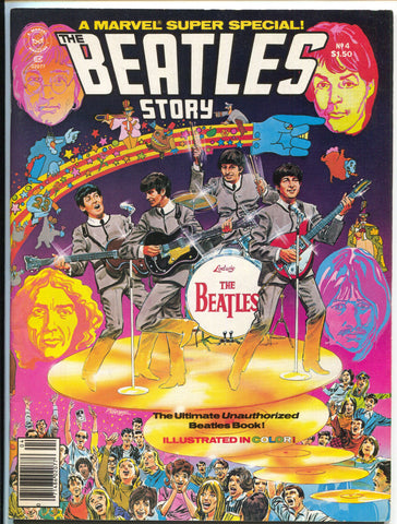 Marvel Super Special 4 1978 VF NM The Beatles story John Lennon