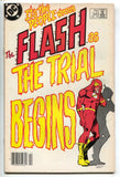 Flash 340 1st Seriesd DC 1984 VG Newsstand Trial Reverse Carmine Infantino