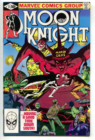 Moon Knight 11 1st Series Marvel 1981 NM- Bill Sienkiewicz Mardi Gras