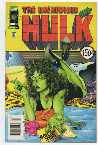 Incredible Hulk 441 Marvel 1996 VF Pulp Fiction Newsstand $1.50 Price Variant Sh