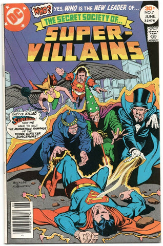 Secret Society Of Super-Villains 7 DC 1977 VF NM Superman Hawkgirl