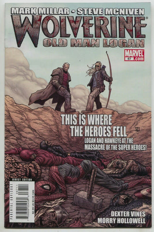 Wolverine 67 A Marvel 2008 NM Old Man Logan Hawkeye 1st Ashley Barton