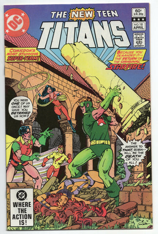 New Teen Titans 18 DC 1982 NM- George Perez Marv Wolfman Starfire Flash