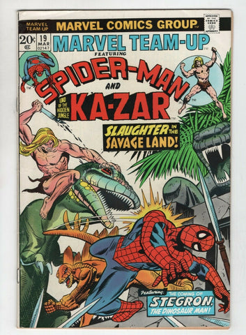 Marvel Team-Up 19 1974 FN Spider-Man Ka-Zar Gil Kane