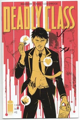 Deadly Class 2 Image 2014 NM 2nd Print Signed 3x Luke Tennie Michel Duval