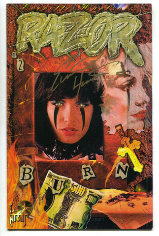 Razor Burn 2 B London Nights 1995 VF NM Signed Everette Hartsoe Variant