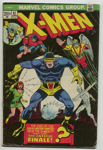 Uncanny X-Men 87 Marvel 1974 VG 39 Banshee Cyclops Jean Grey Iceman