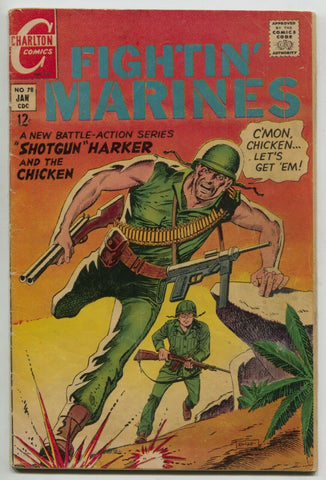 Fightin Marines 78 Charlton 1968 VG War Comics