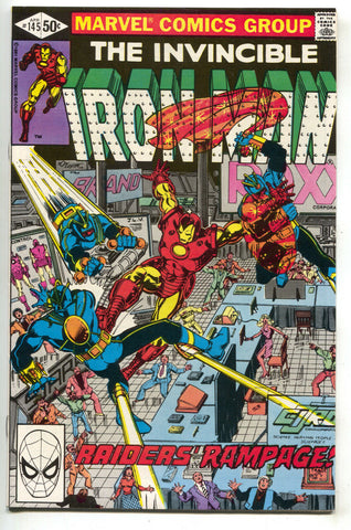 Invincible Iron Man 145 Marvel 1981 NM- Bob Layton Spider-Man She-Hulk 1 Ad