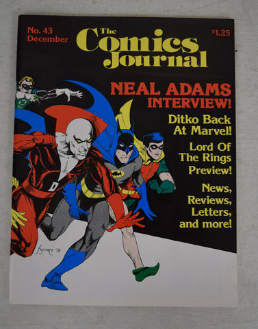 Comics Journal 43 December 1978 VF Neal Adams Steve Ditko Lord Of The Rings