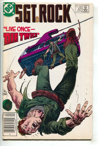 Sgt Rock 421 DC 1987 FN Joe Kubert Tram Car Newsstand
